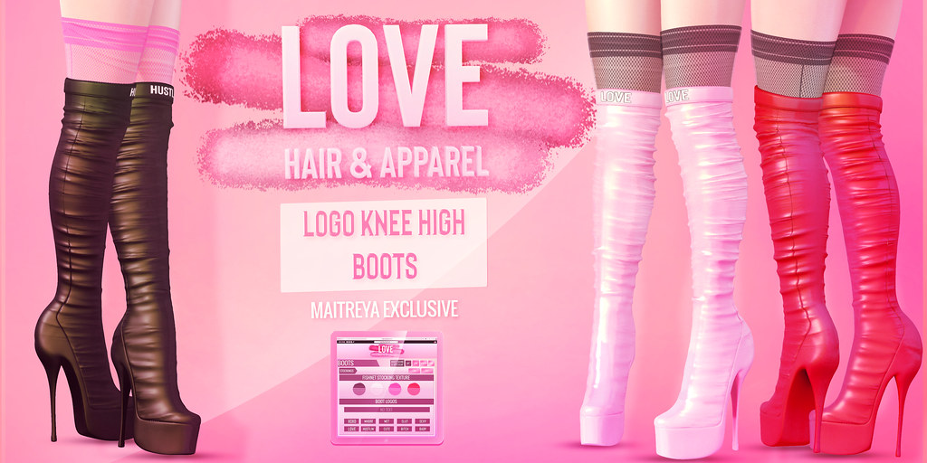 Love NEW [Logo Knee High Boots] @ The Fetish Fair 2019 & **SOCIAL MEDIA GIVEAWAY!**
