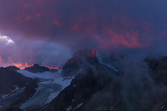 Cloudy sunset at Rifugio Casati