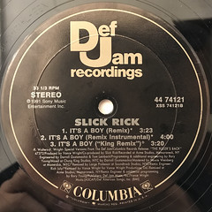 SLICK RICK:IT'S A BOY(LABEL SIDE-B)
