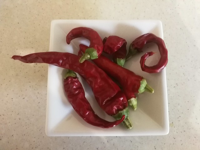 Thai dragon chillies