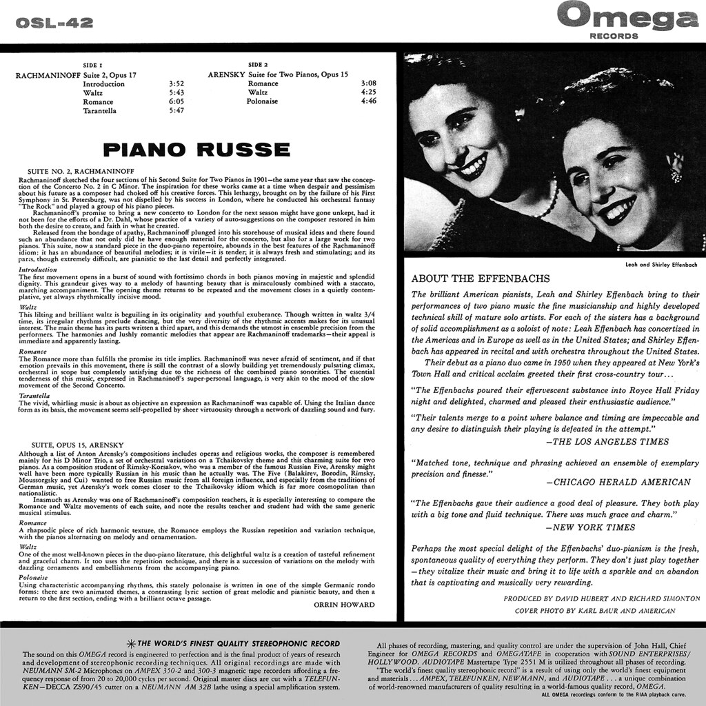 Leah and Shirley Effenbach - Piano Russe