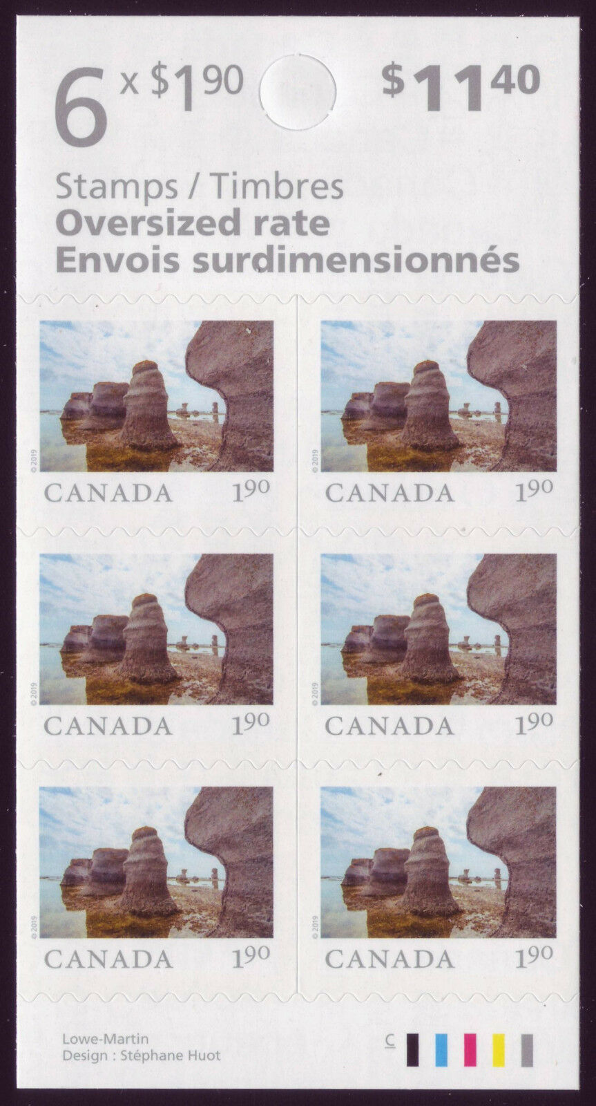 Canada - From Far and Wide (January 14, 2019) oversized rate booklet of 6