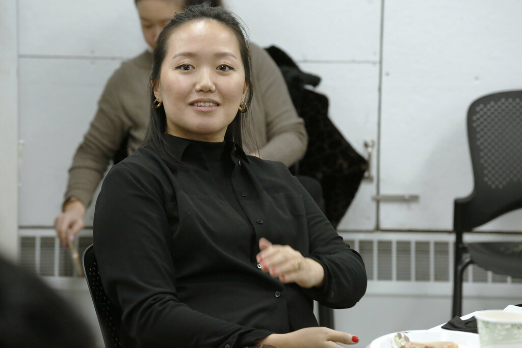 "The AAP Connect Professional Development Series event  ""Alumna Talk and Lunch,"" with Diana Seo Hyung Lee (B.F.A. '08)."