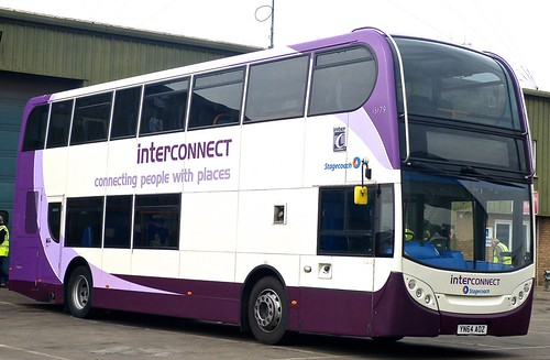YN64 AOZ 'Stagecoach East Midland' No. 15179 'interconnect'. Scania N230UD / Alexander Dennis Ltd. (ADL) Enviro 400 on Dennis Basford's railsroadsrunways.blogspot.co.uk'