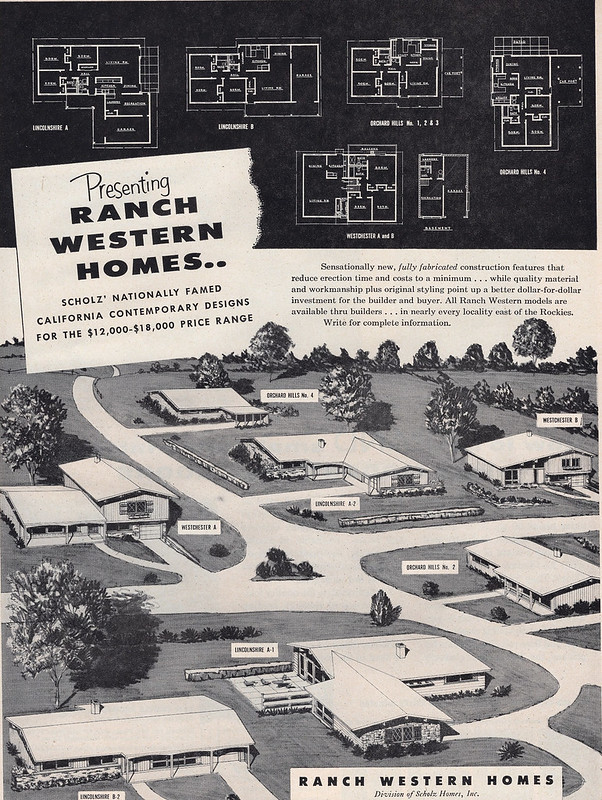 Ranch Western Homes 1956