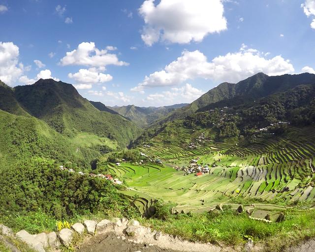 Vistas espectaculares de los arrozales de Batad