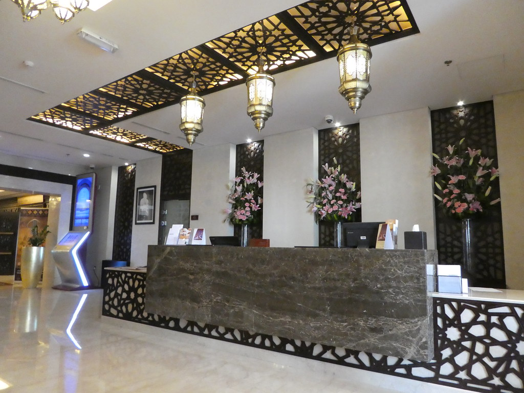 Reception desk at Souq Waqif Boutique Hotel, Doha