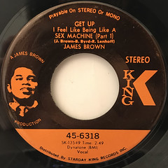 JAMES BROWN:GET UP I FEEL LIKE BEING LIKE A SEX MACHINE(LABEL SIDE-A)