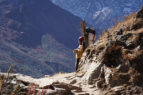 Sherpa vallée du Khumbu au Népal - Himalaya