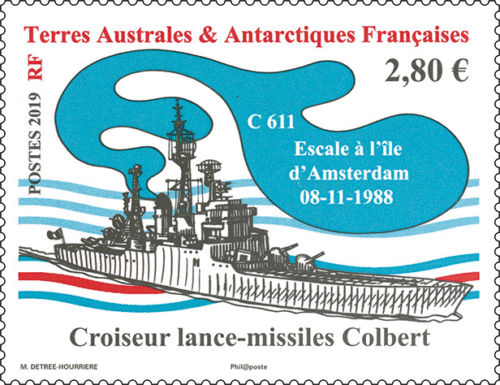 French Southern and Antarctic Lands - French Cruiser 'Colbert' (January 2, 2019)