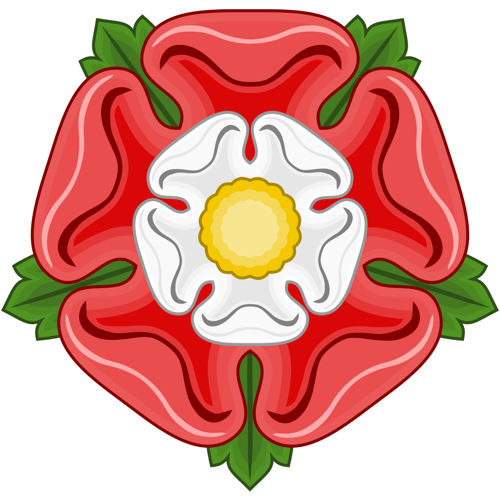 The Tudor Rose - combination of the Red Rose of Lancaster and the White Rose of York