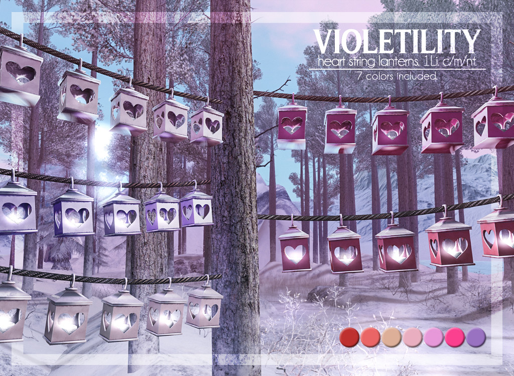 Violetility – Heart String Lanterns