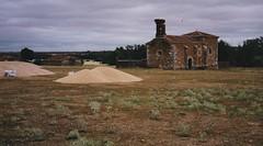 Le blé est battu, campagne castillane, province de Soria, Castille-Léon, Espagne.