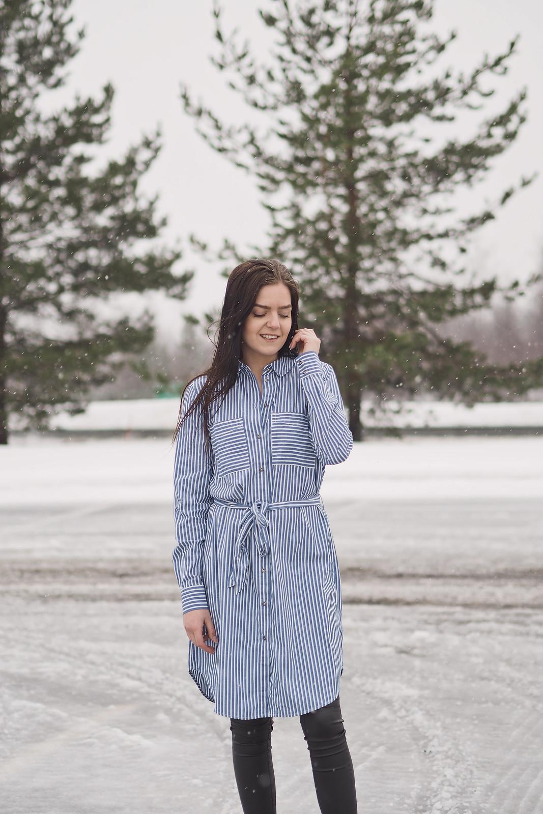 mekko keskellä talvea