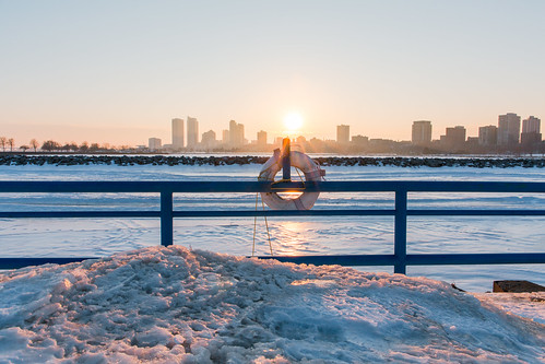 Frozen Skyline Sunset