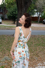 Mary in Foral Print