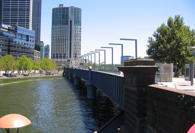 Sandridge Bridge looking towards Southbank, January 2009