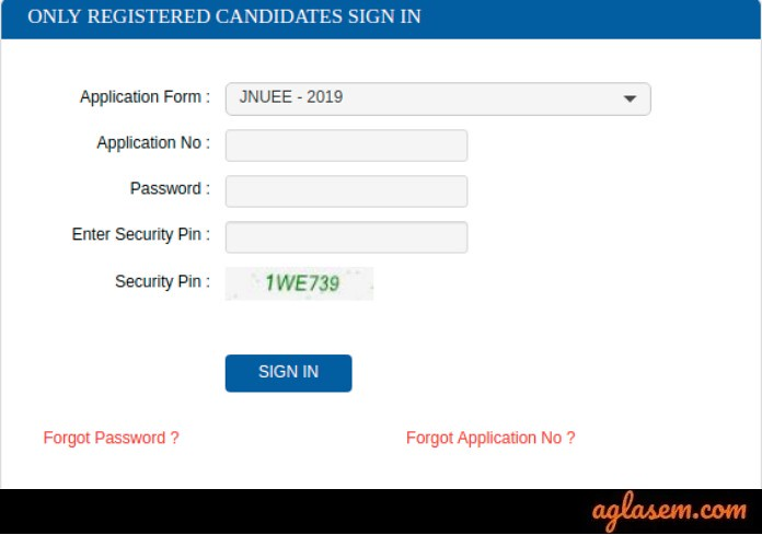 JNUEE 2020 Login (Available) - Register For JNU Admission, Fill Form At jnuexams.nta.nic.in
