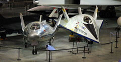 Martin X-24A and  X-24B, National Museum of the US Air Force, Dayton, Ohio, USA.
