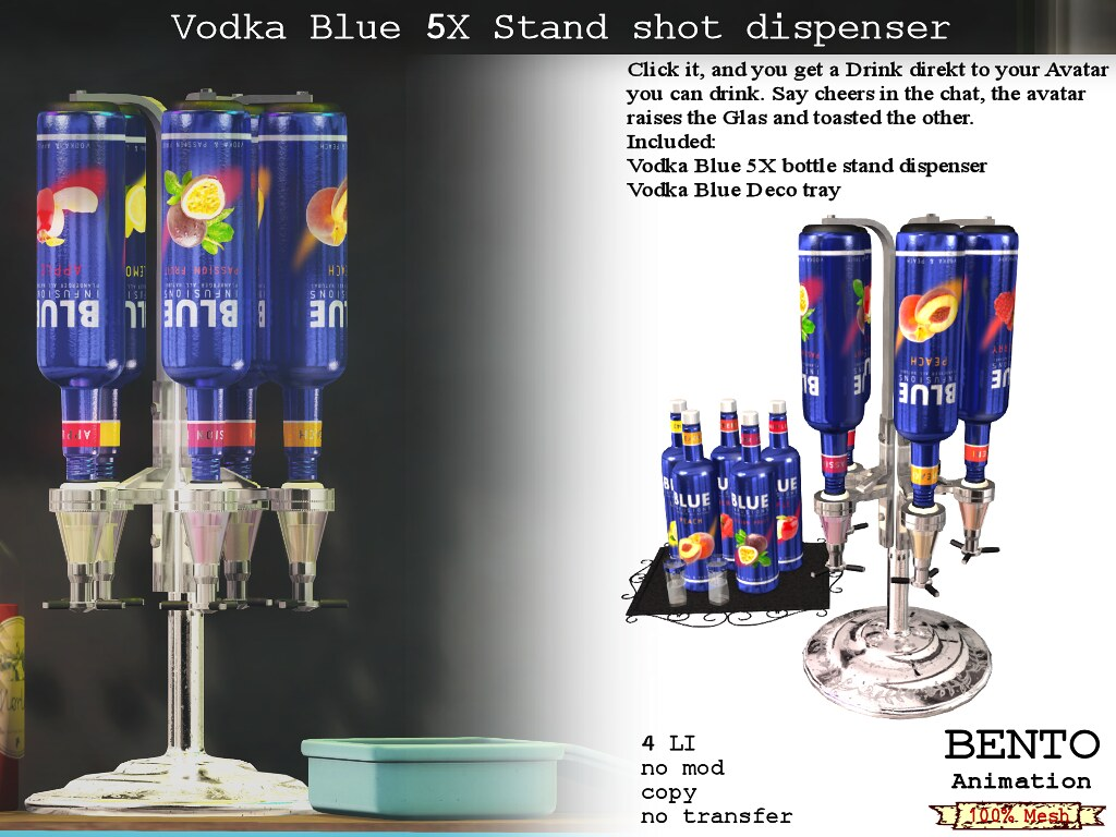 No59 Vodka Blue Stand dispenser - TeleportHub.com Live!