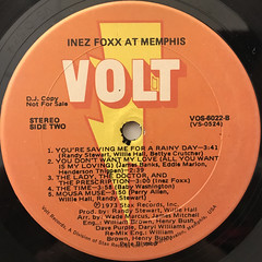 INEZ FOXX:INEZ FOXX AT MEMPHIS(LABEL SIDE-B)