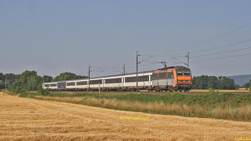 BB 26056 Train ICN 4382 Nice-Strasbourg à Raedersheim