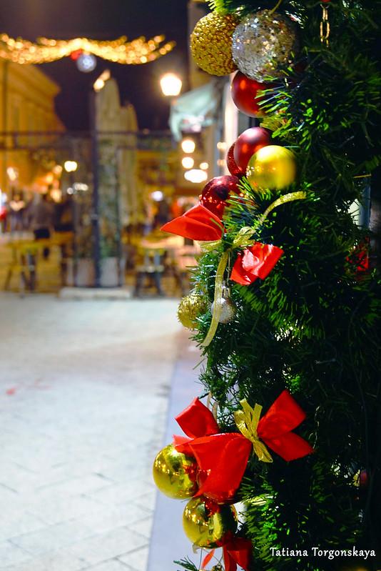 Праздничные украшения на Дунайской улице