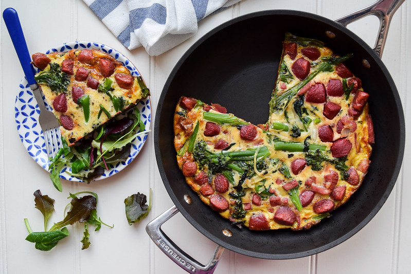 Bacon, Beetroot & Broccoli Gnocchi Frittata