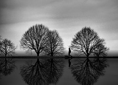 By becoming a mirror of the ever-changing sky, bodies of water imply freedom. Nothing more ephemeral than these reflections