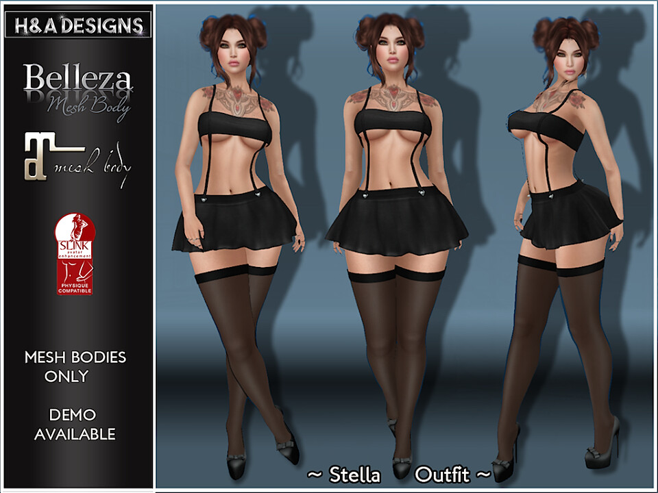 [H&A Designs]-Stella Outfit Black