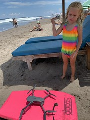 Launching my drone off of Madeleine's boogie board to get some great footage of Bali's west  coast