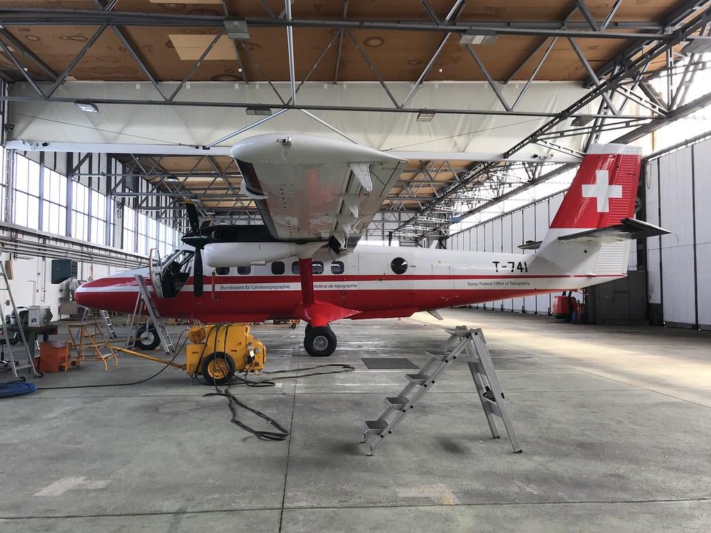 T-741, de Havilland Canada DHC-6 Twin Otter 300, Bundesamt für Landestopografie Swisstopo, Swiss Air Force (466), Dubendorf 3rd April 2018