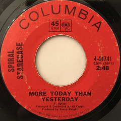 SPIRAL STARECASE:MORE TODAY THAN YESTERDAY(LABEL SIDE-A)