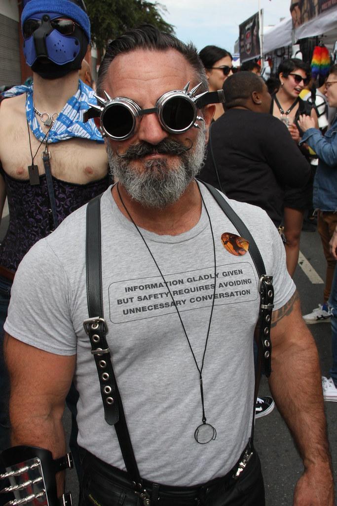WILD BEARDED HUNK FUN ! ~ FOLSOM STREET FAIR 2018 ! ( safe photo )