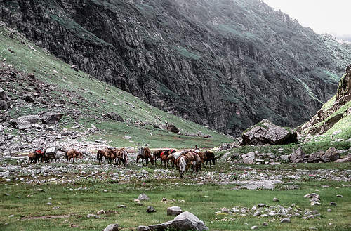 Ascending the Hampta Valley.
