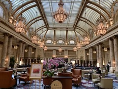 The famed Palace Hotel in San Francisco this week