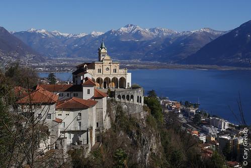 Le sanctuaire Madonna del Sasso à Orselina, au-dessus de Locarno et du Lago Maggiore (18/02/2019 -11)