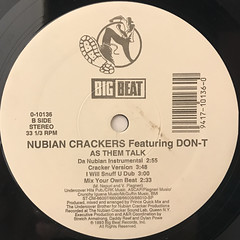 NUBIAN CRACKERS featuring DON-T:AS THEM TALK(LABEL SIDE-B)