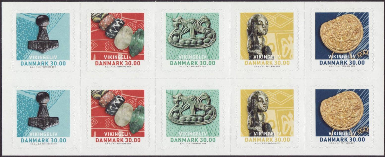 Denmark - Life of Vikings (January 2, 2019) booklet pane of 10