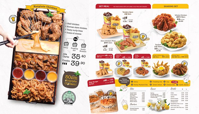 NeNe Chicken Menu