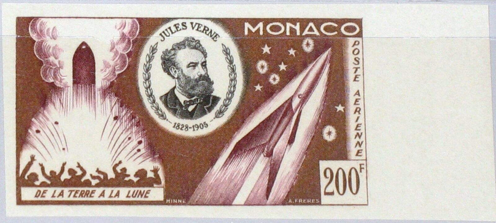 Monaco - Scott #C45 (1955) color trial proof