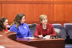 (L-R) Amy Rucci, Jill Caron and Rep. Zawistowski testify in support of  HB 5156 'An Act Concerning First Responder Training for Incidents Involving Juveniles with Autism Spectrum Disorder and Nonverbal Learning Disorder'
