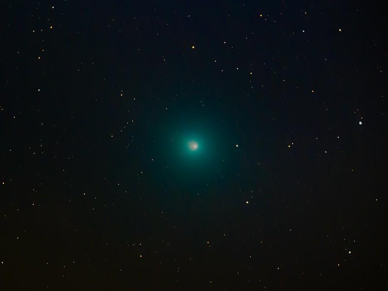 46P ウィルタネン彗星 (2018/12/13 23:41:30 彗星基準コンポジット+恒星基準コンポジット)