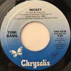 TONI BASIL:MICKEY(LABEL SIDE-A)