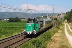 BB 66401+voiture CRISTEL+wagon lasergrammétrie n°818985 St Germain au Mont d'Or - Marseille St Charles