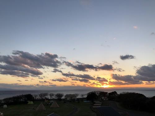 ソレイユの丘キャンプ場の夕焼け