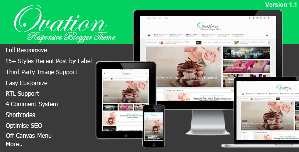 Ovation v1.1.0 - News/Magazine Responsive Blogger Theme
