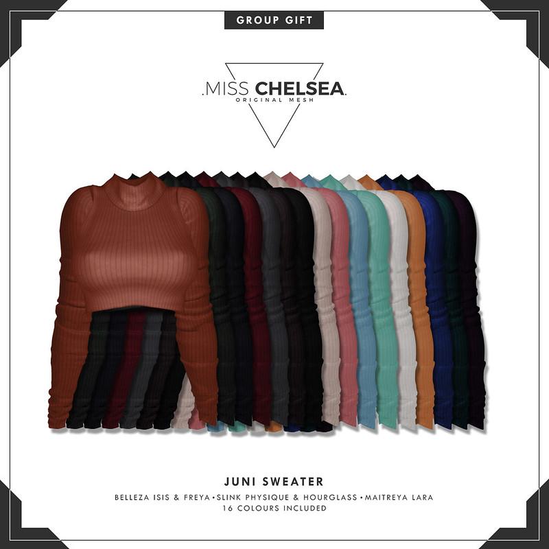 .miss chelsea. juni sweater - group gift