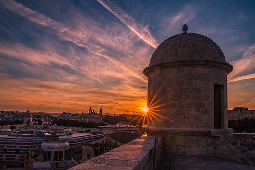 Sunset in Valletta