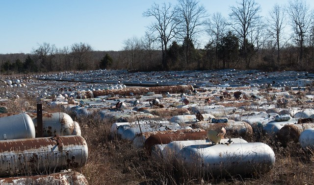 Propane tank boneyard in Hardinsburg, Kentucky